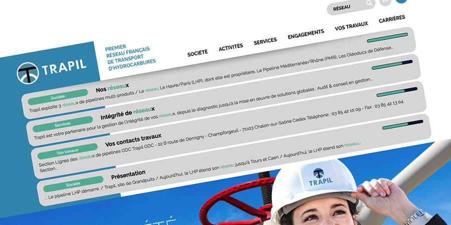 Le moteur de recherche de trapil.com